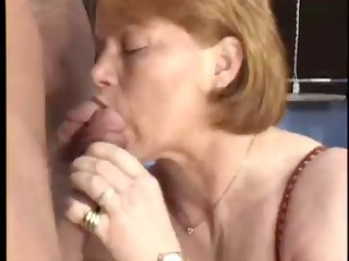Blowjob European German Mature Threesome Vintage
