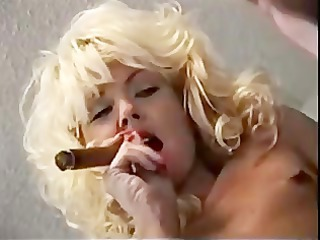 Blonde Fetish  Smoking Vintage