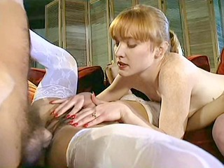Anal Cute  Old and Young Redhead Stockings Teen Threesome Vintage