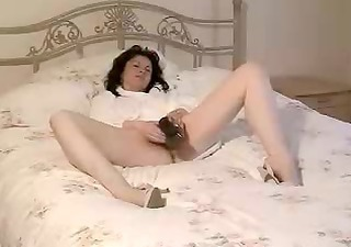 Amateur British Brunette Dildo European Masturbating  Solo Toy Vintage