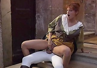 Clothed European Fantasy Italian  Pornstar Riding Vintage