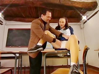 Daddy Old and Young Panty School Student Teacher Teen Vintage