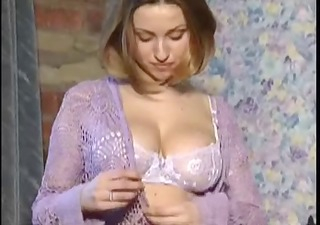 Babe Big Tits Cute Lingerie Stripper Vintage