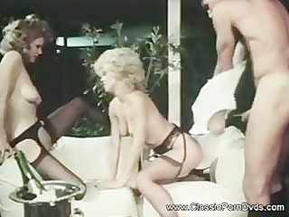 Pornstar Stockings Threesome Vintage