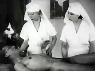 Amateur Nurse Threesome Uniform Vintage