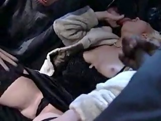 Blowjob Clothed Gangbang Interracial Lingerie  Vintage
