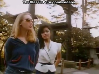 chinees girl and hawt blondie in classic porn video