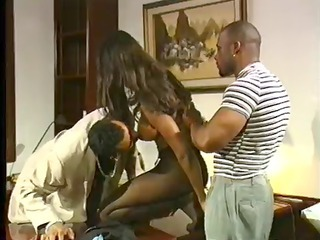 Big Tits Ebony  Threesome Vintage