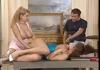 Amazing Big Tits European French  Pornstar Threesome Vintage