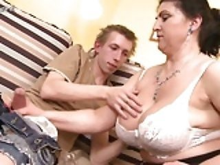 Big Tits Handjob Lingerie Mature Mom Natural Old and Young