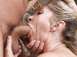 blonde   blowjob   creampie   facial   hardcore   mature   mom