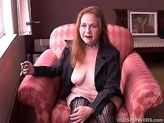 Amateur Mature Redhead  Stockings