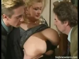 Big Tits Blonde European German Mature Natural  Threesome