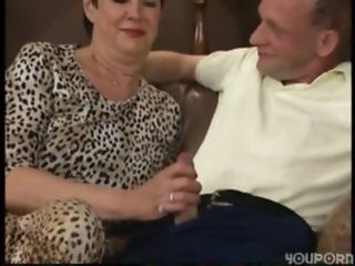 European German Handjob Mature Older Wife