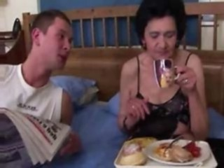 cock   granny   mature   old woman   young