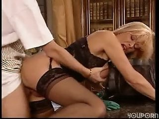 Doggystyle Hardcore Mature Mom Old and Young Stockings