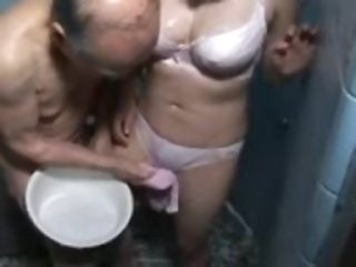 Asian Daddy Daughter Japanese Lingerie  Old and Young Showers