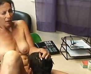 Licking Mature Mom Office Old and Young  Secretary