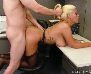Blonde Doggystyle Hardcore  Office Pornstar Secretary Stockings