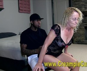 Stained Interracial Creampie