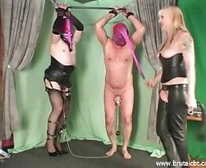 Two slaves CBT added to ballbusting