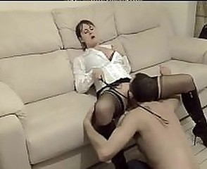 Amateur British European Femdom Licking Mature Slave