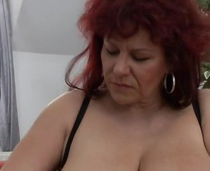 European German Mature Redhead Stripper
