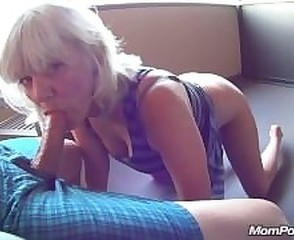 Amateur  Blowjob Clothed Mature Mom