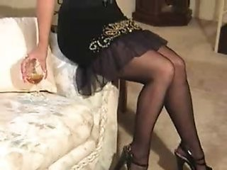 Amateur Drunk Homemade Legs Stockings Wife