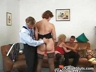 Groupsex Mature Stockings