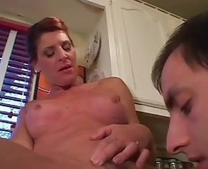 Kitchen Licking Mature Mom Old and Young Pornstar