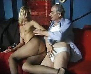 Daddy Handjob  Old and Young Pantyhose Small Tits