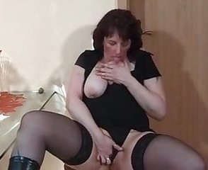 Amateur Chubby Masturbating Mature  Stockings Wife