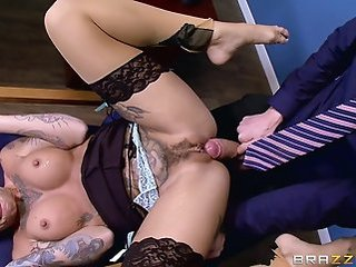 Amazing  Hairy Hardcore  Pornstar Silicone Tits Stockings Tattoo