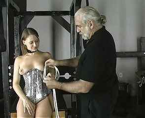 Cute perky brunette gets bound increased by tortured in eradicate affect dungeon