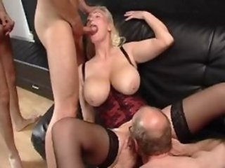 blonde   well-endowed   group   hardcore   mature   milf   tits