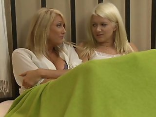 Blonde Daughter Lesbian  Mom Old and Young Teen