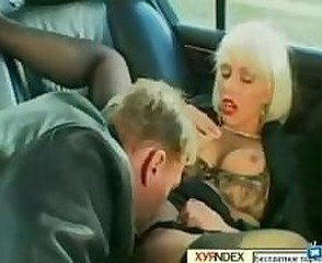 Amazing Car Clothed Licking