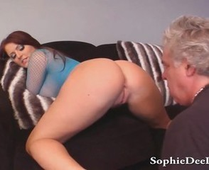 Ass Daddy Licking  Old and Young Pornstar