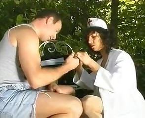 European French Mature Mom Nurse Old and Young Outdoor Uniform