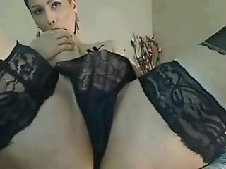 Amazing Lingerie Masturbating  Panty Solo Stockings Webcam