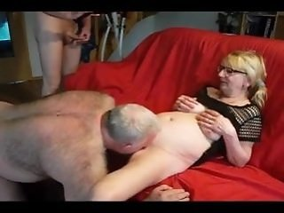 amateur   mature   old woman   threesome
