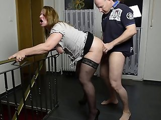 Chubby Clothed Doggystyle Hardcore  Stockings
