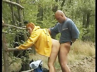 Clothed Doggystyle Hardcore Mature Mom Old and Young Outdoor Redhead