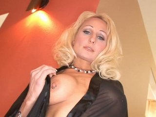 Amazing Blonde Cute  Mom Nipples Old and Young Piercing Stripper