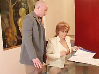 Mature  Mom Office Old and Young Russian Secretary