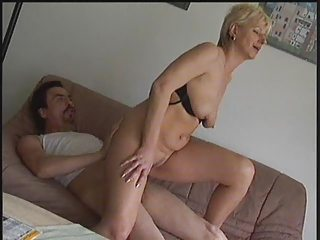 Amateur European German Homemade Mature Older Riding Wife