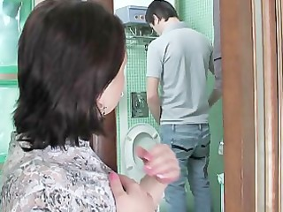 Mom Old and Young Russian Toilet Voyeur