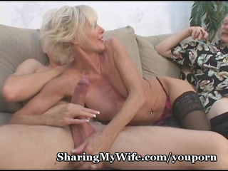 Blowjob Cuckold Mature Old and Young Piercing Skinny Stockings Wife