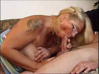 Blowjob Glasses Mature Mom Old and Young Tattoo